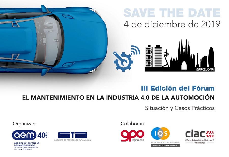III Foro «El mantenimiento en la industria 4.0 de la automoción»
