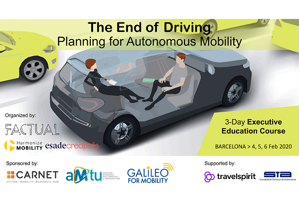 Curso «The End of Driving: Planning for Autonomous Mobility»